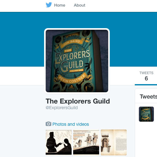 <em>The Explorers Guild</em>&nbsp; Is Now on Twitter!